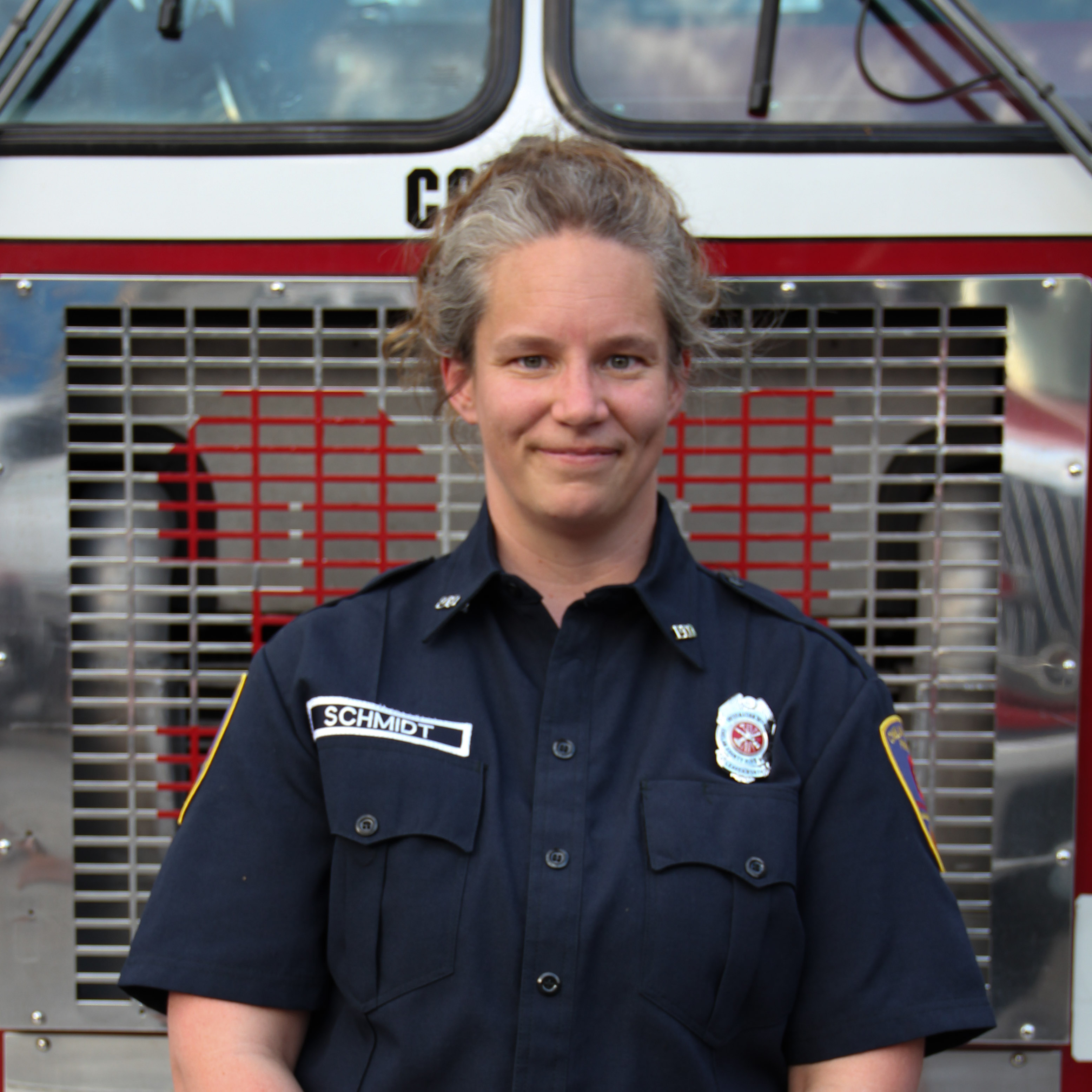 Volunteer Officer Public Information Officer and Firefighter Annie Schmidt